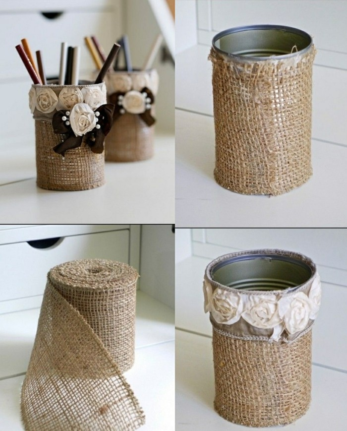 12-creativa-artesanales ideas-konservendose-lino-Roses-lápices-stifthalter-yourself-make