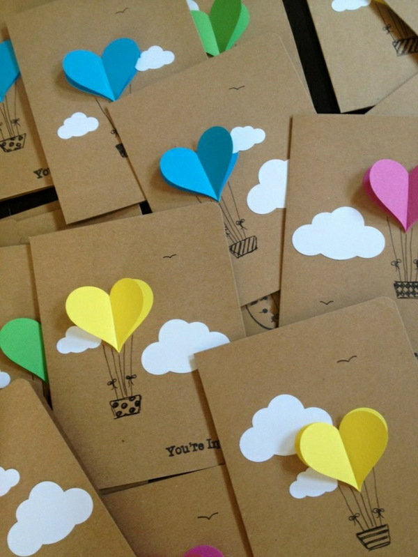 Tinker-con-papel-card-preciosas originales ideas de sí-do-DIY-tarjetas-Tinker-