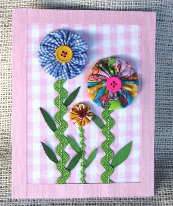 flor-Tinker-con-papel-tarjeta en si-do-DIY-tarjetas-Tinker-beautiful-originales ideas