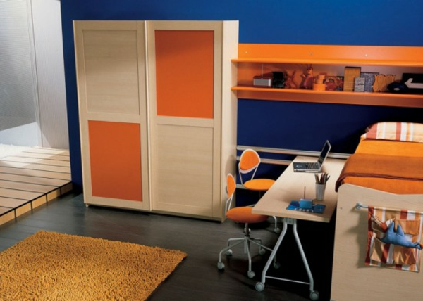 modèle orange-in-youth-room-intéressant du cabinet