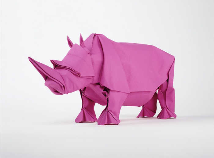 origami-animales-a-rosy Rhino