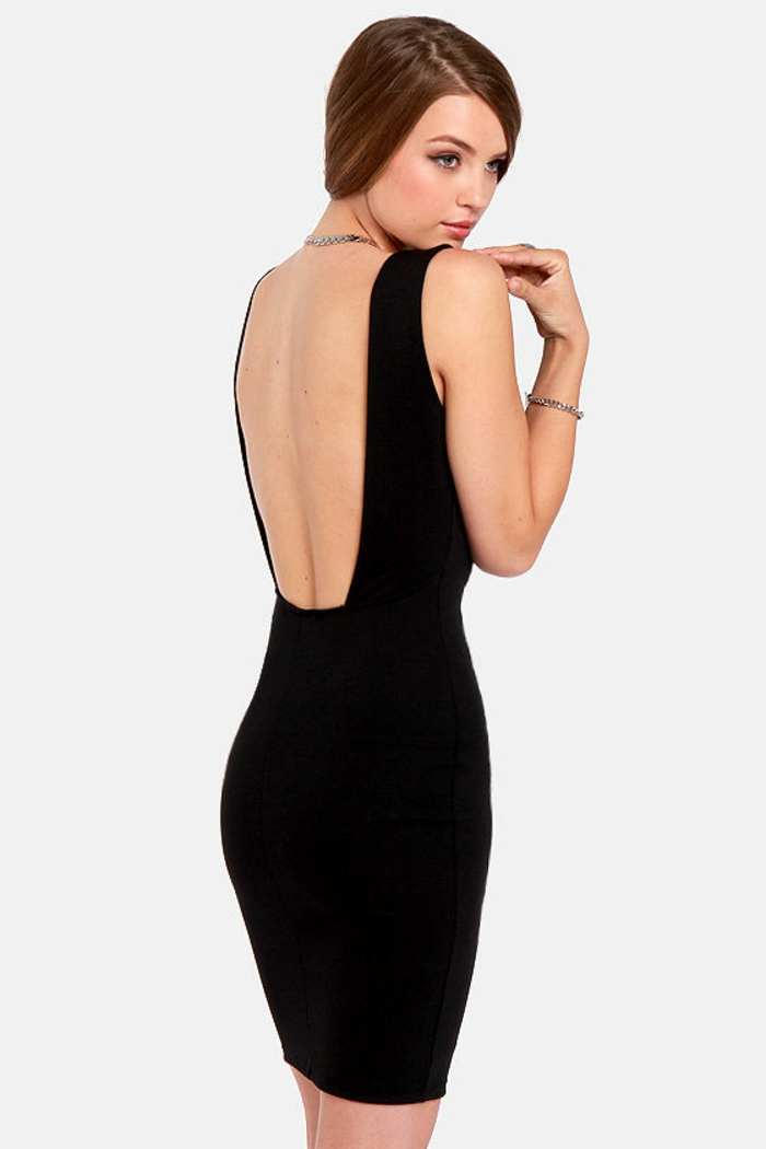 backless haljina -tolles-crno-modela