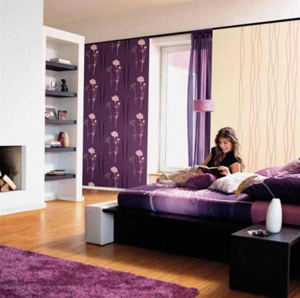 beautiful-color-for-bedroom-a mujer sonriente
