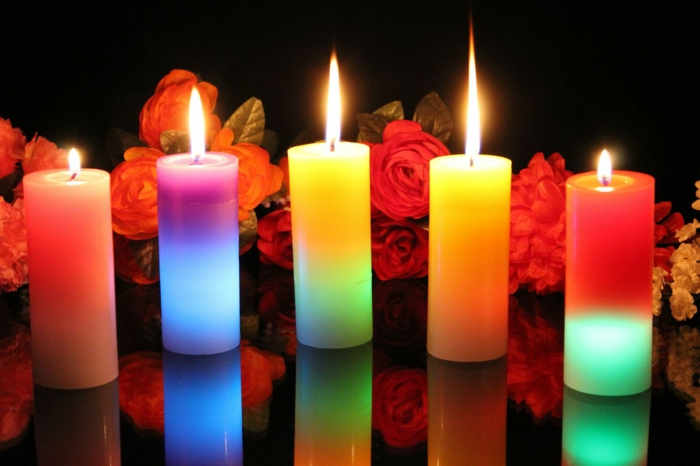 hermoso color-velas-color-super-mirada