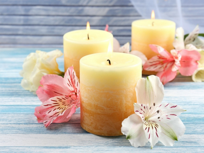 beautiful-velas de color amarillo-color-blando-mirada