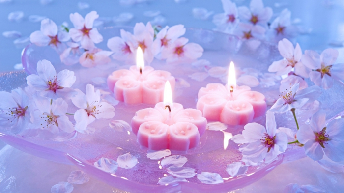 beautiful-velas de color rosa-esquemas