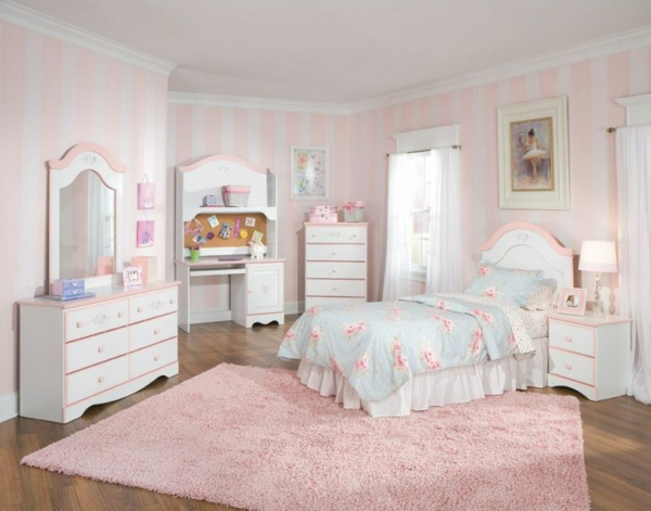 chambre-style-rosy-tapis-belle vie