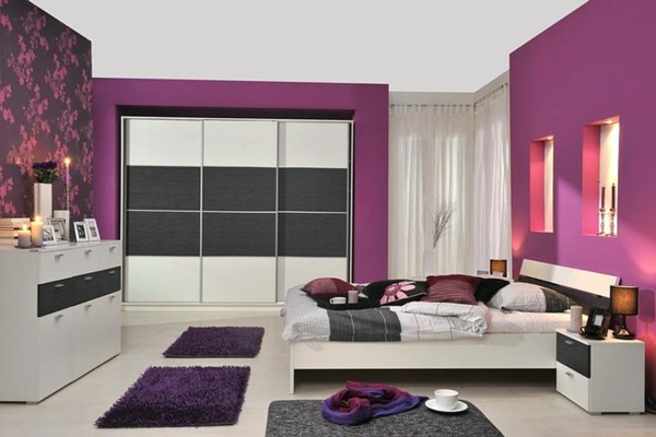 wall-colours-for-bedroom-purple-very beautiful armarios