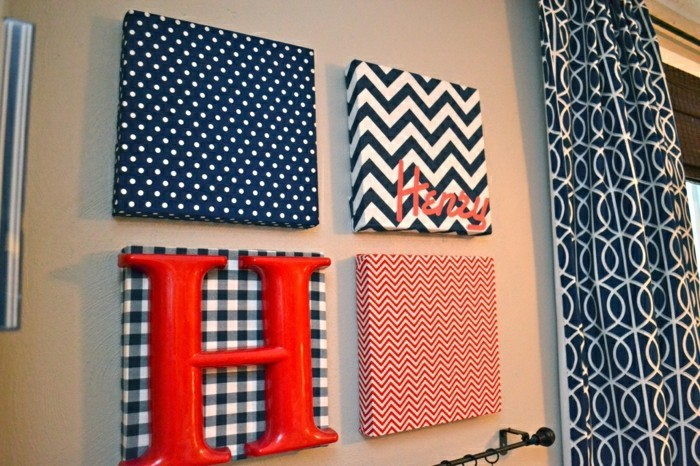 de pared de diseño con colores super interesante-DIY-ideas-con-letras